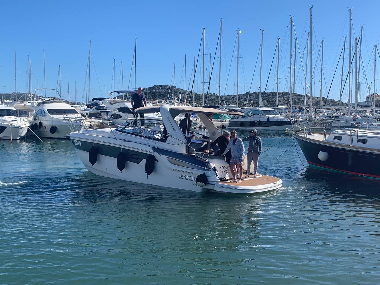 Skippertraining in Kroatien mit Motoryacht